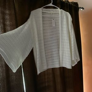 Anthropologie one size White cardigan NWT